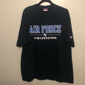 Champion Air Force academy swim team shirt black